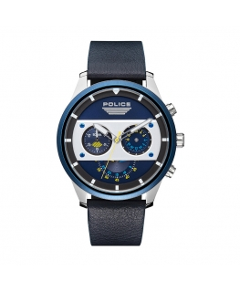 Police Vesterbro chr blue dial blue strap