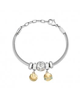 Bracciale Morellato Drops 3 beads smile