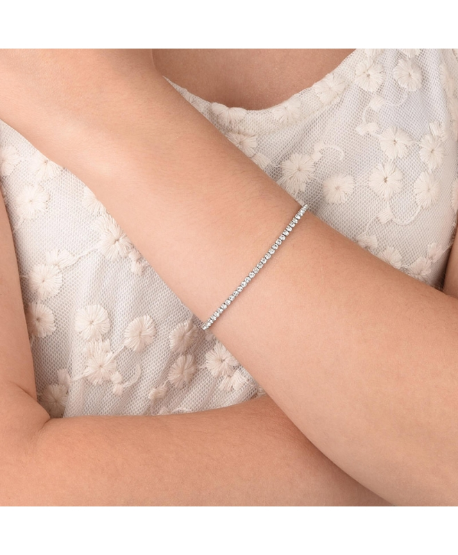 Bracciale Sector Love and love crystal 170+30mm donna SAFS06 - galleria 2