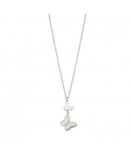 Collana Sector Nature & love acciaio farfalla