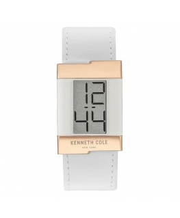 Orologio Kenneth Cole New York pelle bianco