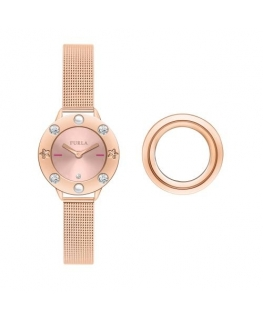 Furla Club 26mm 2h pink dial pink gold br