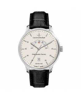 Lucien Rochat Lyon 43mm gmt ivory dial black st