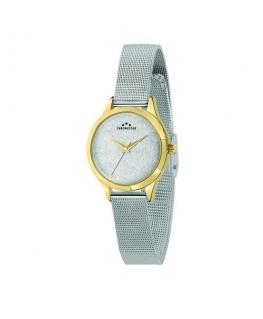 Chronostar Shimmer 32mm 3h silver dial mesh br ss