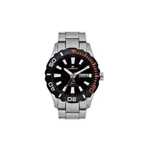 Orologio Lorenz uomo automatico Shark II nero / orange