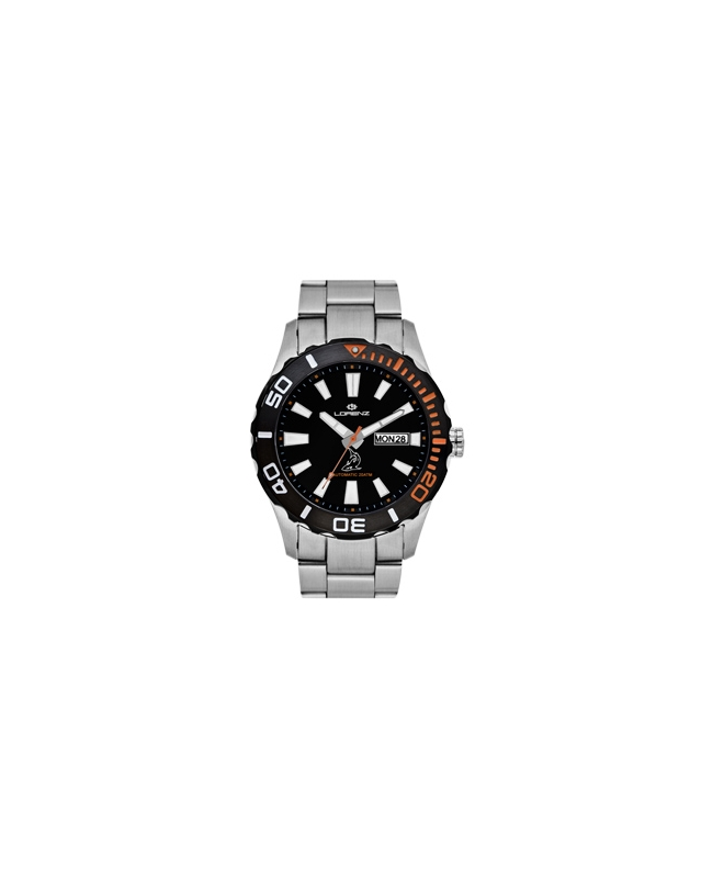 Orologio Lorenz uomo automatico Shark II nero / orange - galleria 1