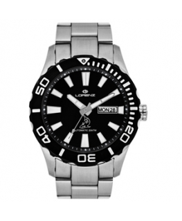Orologio Lorenz uomo automatico Shark II nero