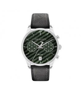 Trussardi T-genus 40mm chr green dial black strap