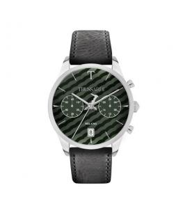 Trussardi T-genus 40mm chr green dial black strap