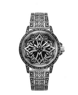 Police Bronxdale watch+with cross i/o skull