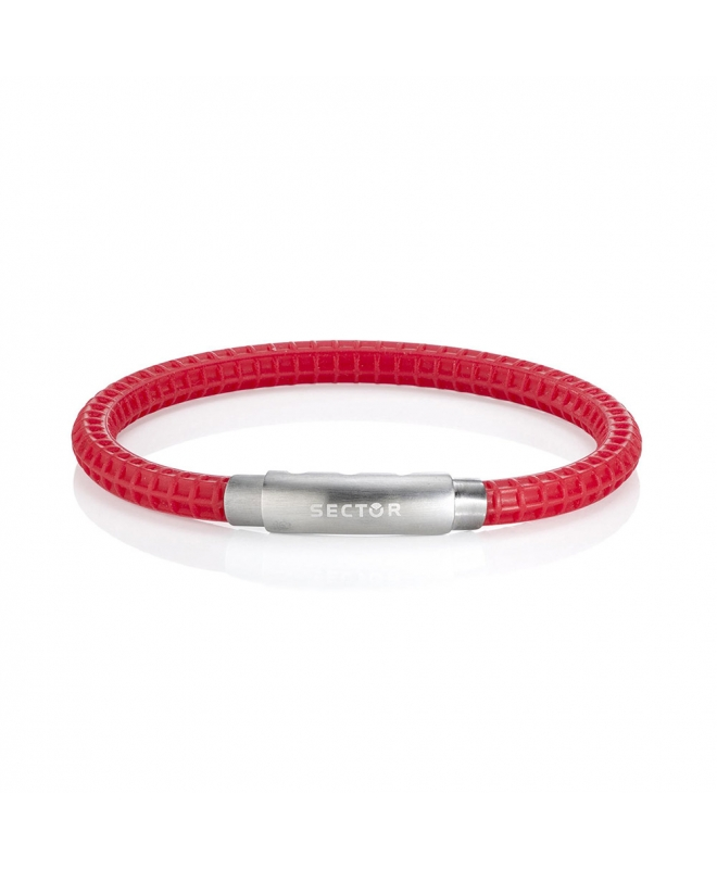 Bracciale Sector Gioielli Basic soft rosso uomo SAFB18 - galleria 1