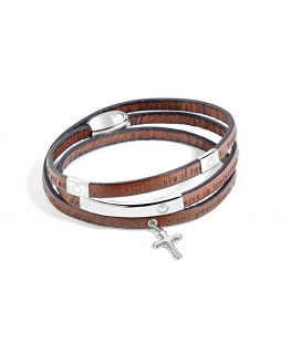 Bracciale Sector Gioielli Love and love marrone 540mm