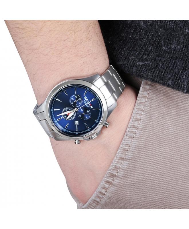 Orologio Sector 290 uomo chrono blu - galleria 2