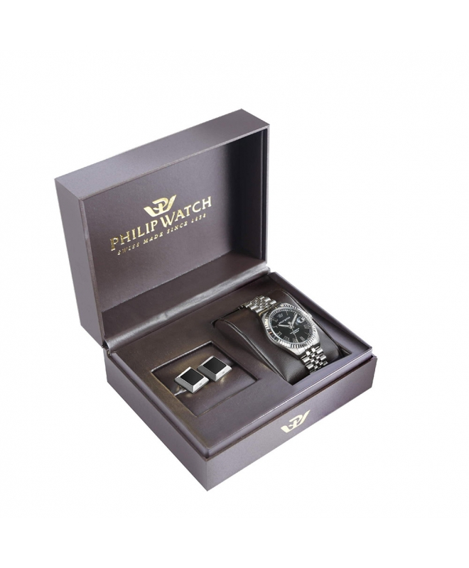 Orologio Philip Watch Caribe 41mm - Special box con gemelli - galleria 1