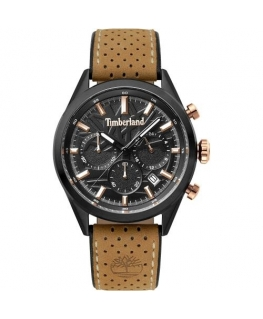 Timberland Randolph chr black dial light brown stra