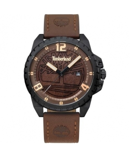 Timberland Eastford 3h brown wood dial dark brown s