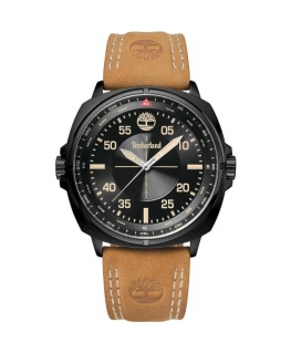 Timberland Williston 3h black dial tan strap