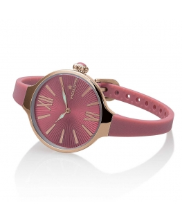 Orologio Hoops Nouveau Cherie donna gomma rosa / rosa