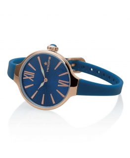 Orologio Hoops Nouveau Cherie donna gomma blu / blu