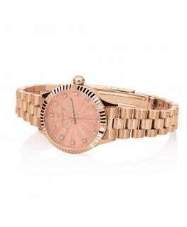 Orologio Hoops Luxury donna acciaio oro rosa / rosa