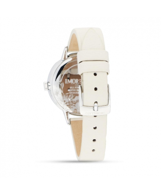 Morellato Ninfa 36mm 3h white dial grey strap - galleria 2