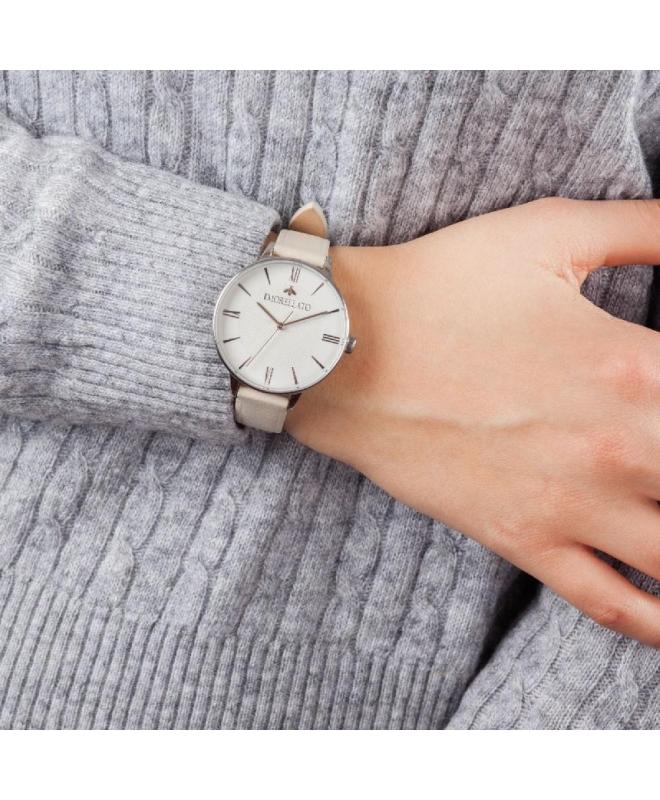 Morellato Ninfa 36mm 3h white dial grey strap - galleria 3