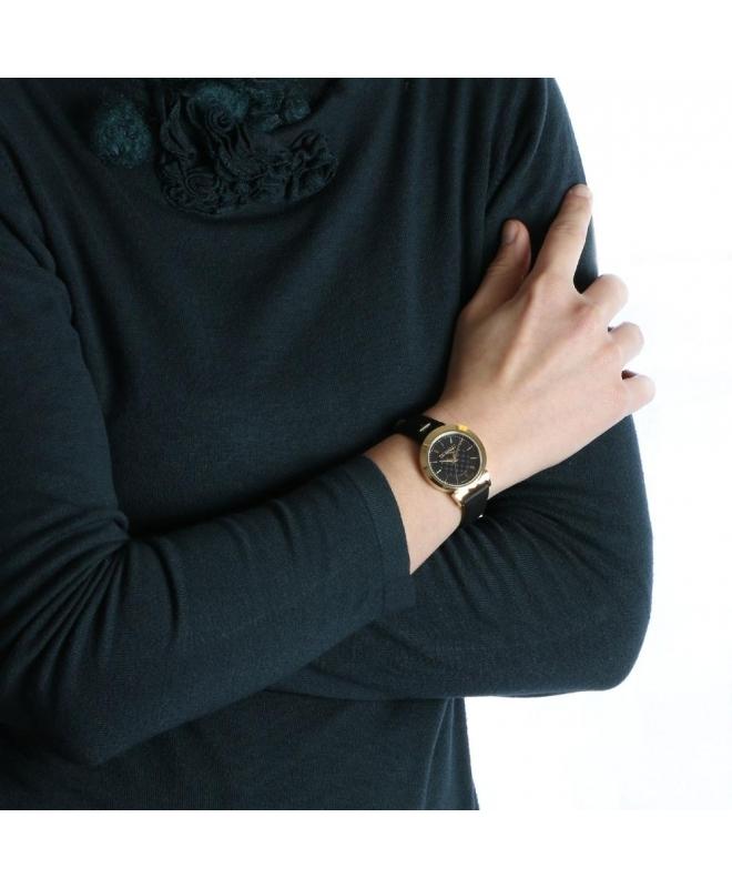 Trussardi Antilia 34mm 3h black dial black strap - galleria 3