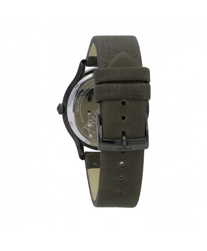 Trussardi Tfirst gent 43mm 3h grey dial green st - galleria 2