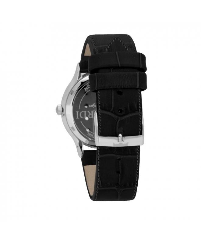 Trussardi Tfirst gent 43mm 3h silver dial blk st - galleria 2