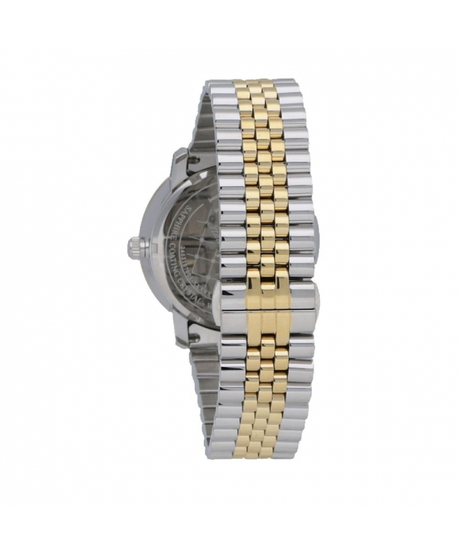 Trussardi Sinfonia 42mm 3h silver dial yg+ss br - galleria 2