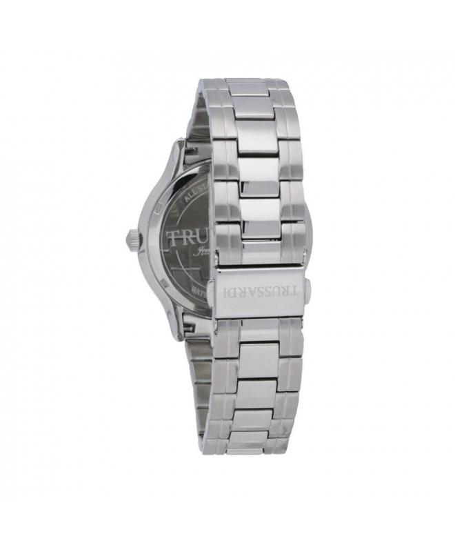 Trussardi Tfirst gent 43mm 3h silver dial ss br - galleria 2