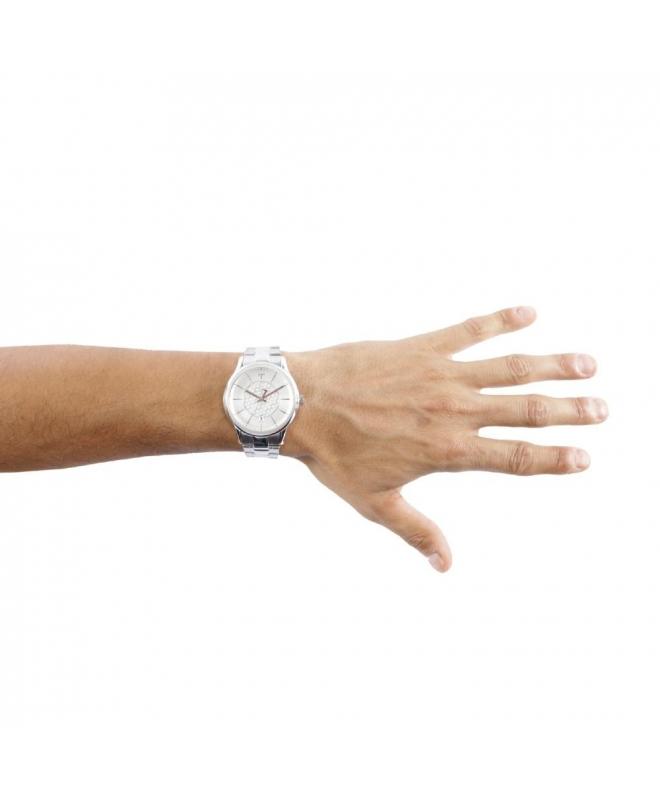 Trussardi Tfirst gent 43mm 3h silver dial ss br - galleria 3
