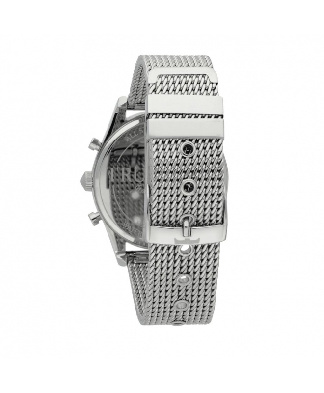 Trussardi T-genus 40mm chr silver dial mesh br ss - galleria 2