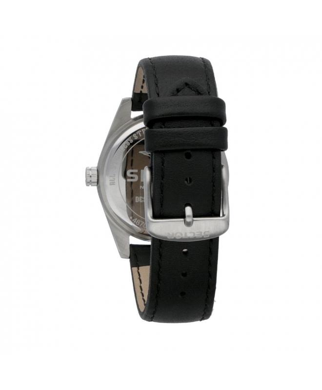 Sector 245 41mm 3h white dial black strap - galleria 2