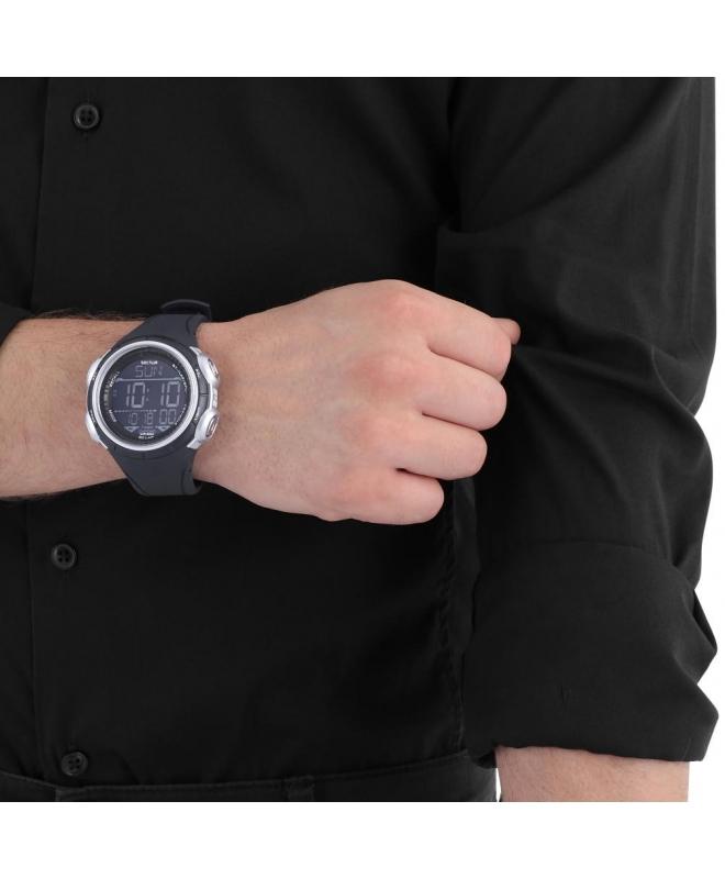 Orologio digitale Sector Ex-22 nero / grigio 44 mm uomo - galleria 2