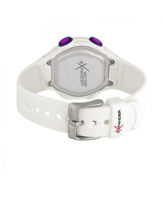 Sector Ex-06 36mm digital white strap - galleria 3
