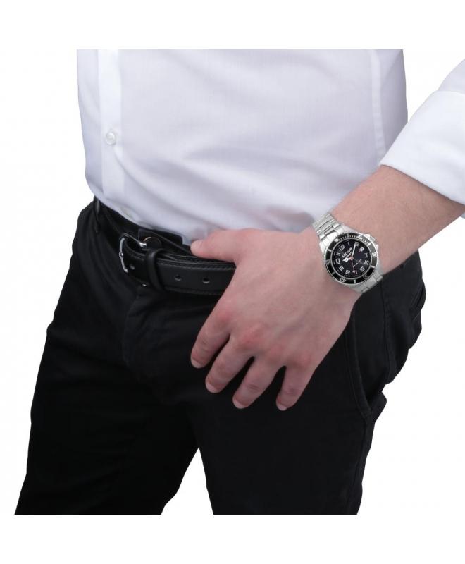 Sector 230 39mm 3h black dial bracelet - galleria 2