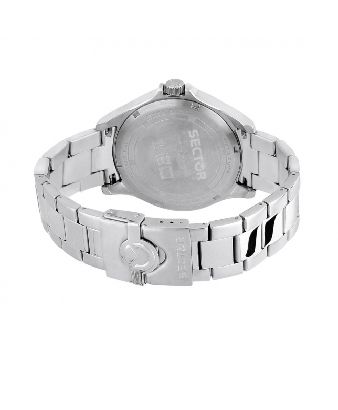 Sector 180 45mm 3h white matt dial br ss uomo R3253180001 - galleria 3