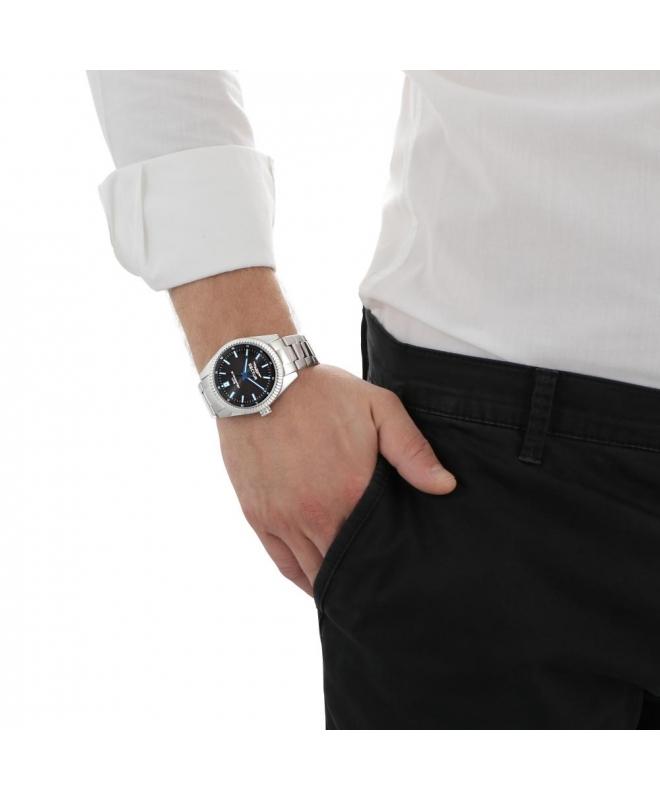 Sector 240 3h 41mm black dial bracelet ss case - galleria 2