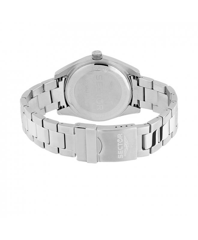 Sector 240 3h 41mm black dial bracelet ss case - galleria 3