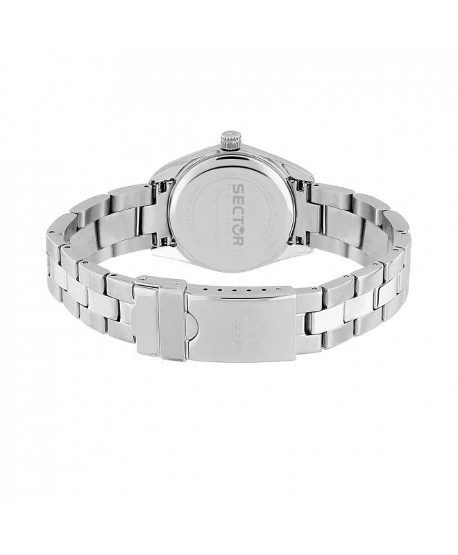Sector 240 3h 32mm white pearl dial br ss - galleria 3