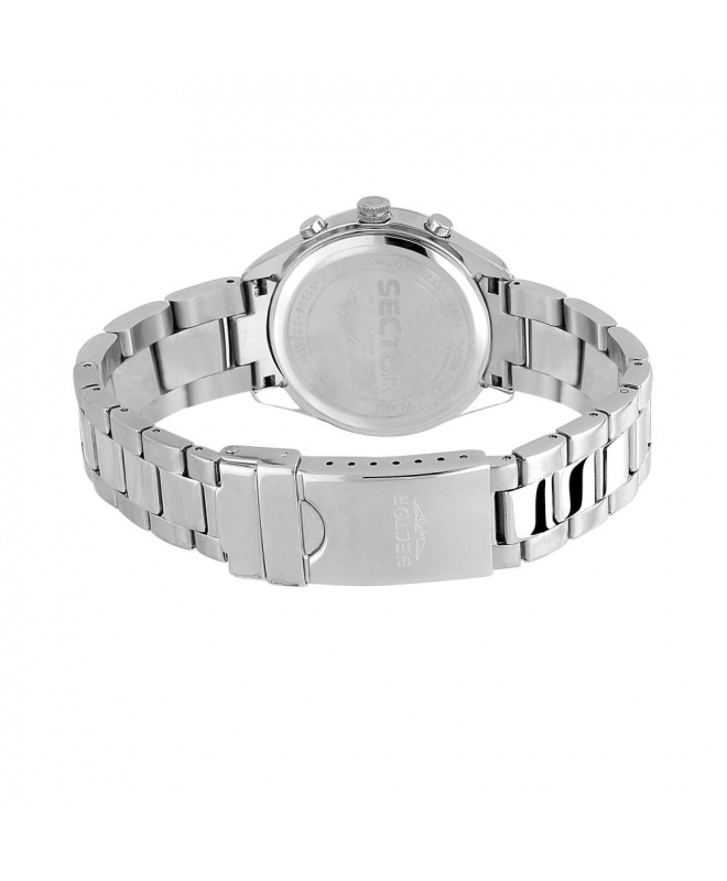 Sector 120 36mm mult w/silver dial bracelet ss - galleria 3