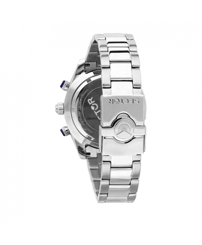 Sector 330 45mm chr silver dial br ss - galleria 2