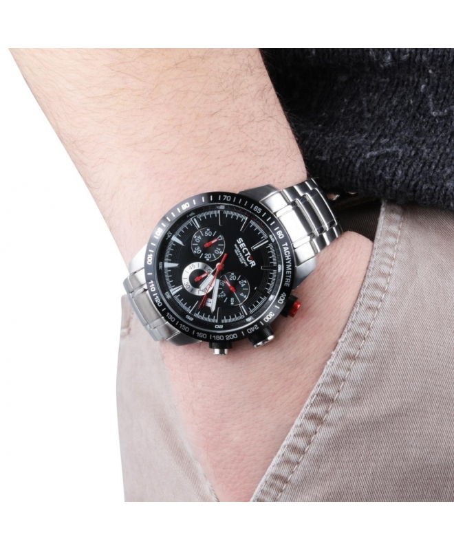 Sector 850 chr black dial bracelet uomo R3273975002 - galleria 2
