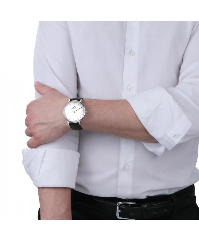 Chronostar Preppy 42mm 2h white dial black str - galleria 2