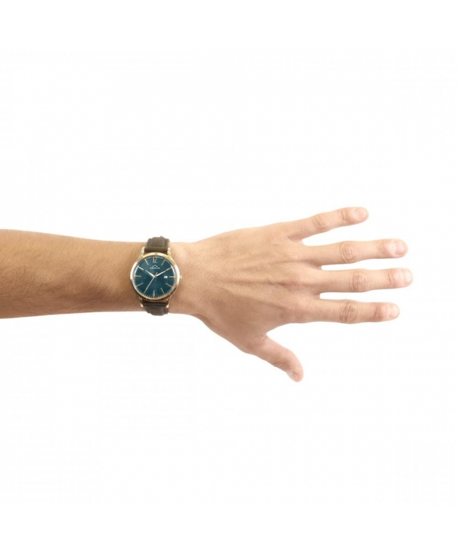 Chronostar Charles gent 39mm 3h green dial green st - galleria 3