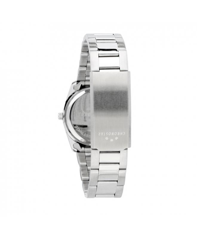 Chronostar Luxury 3h 31mm l.blue dial br ss w/cryst - galleria 2