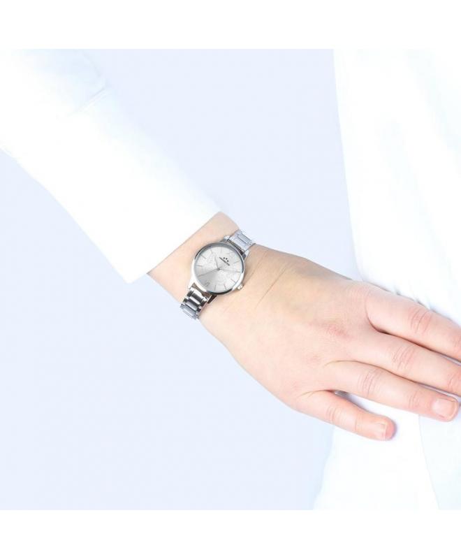 Chronostar Glamour 30mm 3h w/silver dial ss br - galleria 2