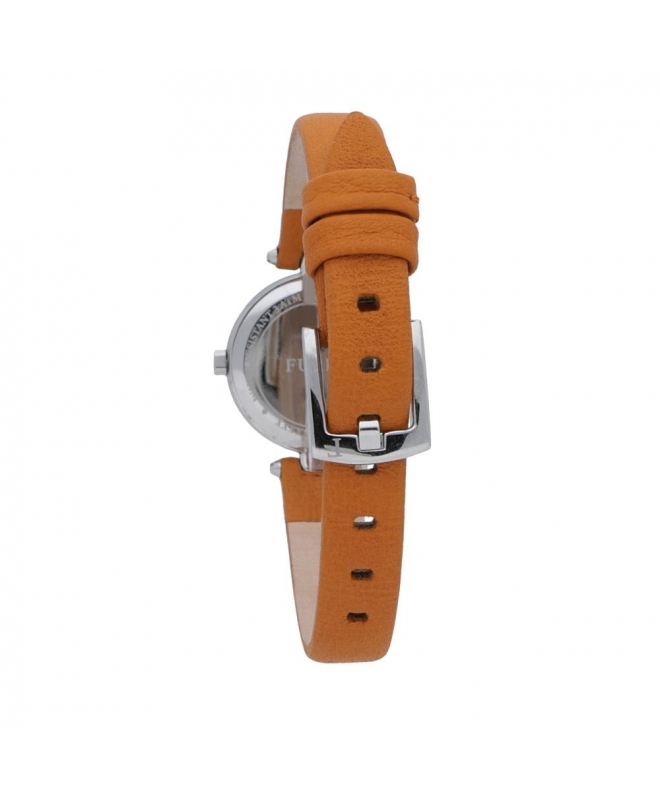 Furla Linda 24mm 2h silver dial orange strap R4251106505 - galleria 2