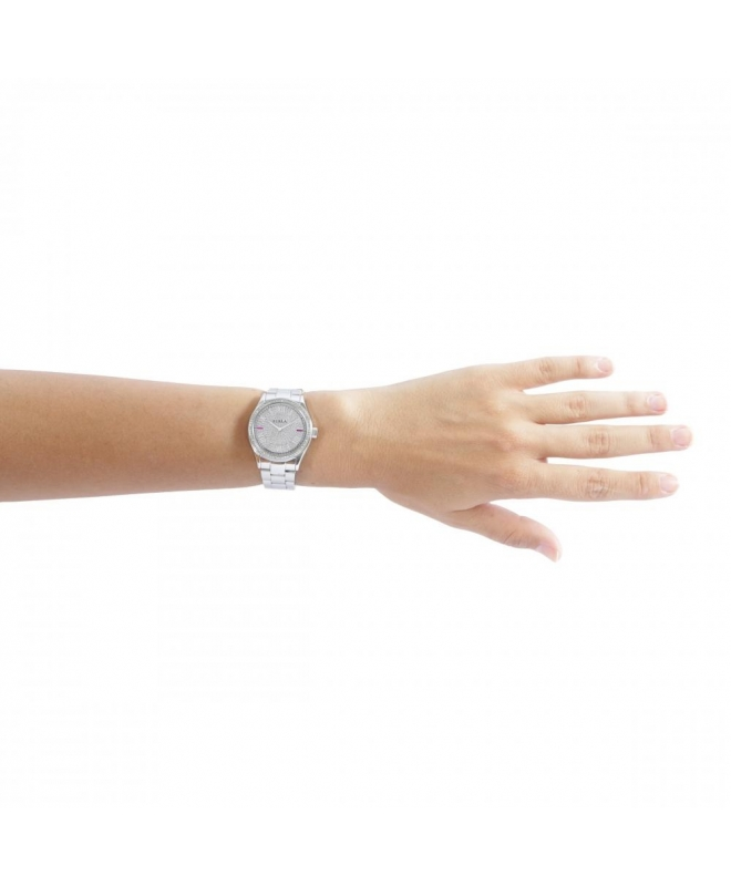 Furla Eva 35mm 3h diamond dust dial ss br R4253101515 - galleria 3
